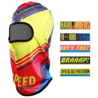 Набор Speed, балаклава спортивная 54,5 × 45 см, 5 наклеек 15 × 4 см